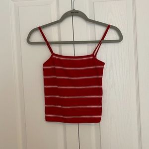 Red and White Brandy Melville Tank Top